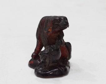 Statue Carved Resin Zodiac Dog