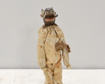 African Dogon Male Wood Statue Spitter Mask Mali