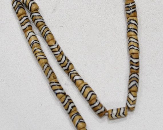 Beads Tribal Pattern Bone Tubes 13-14mm