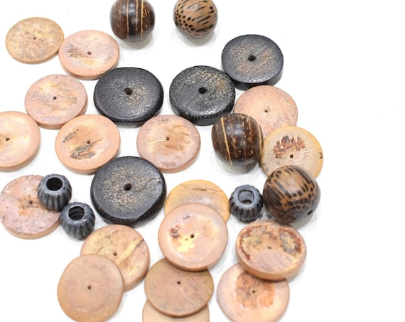 Beads Philippine Assorted Wood Beads 16-25mm