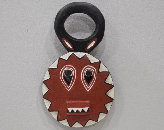 African Mask Baule Goli Wood Cote'd Ivorie Mask