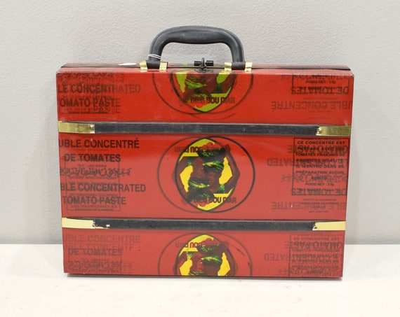 African Recycled Tin Can Briefcase Senegal