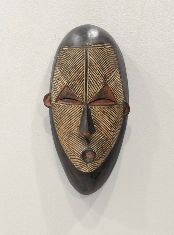Mask African Wood Songye Mask 14""
