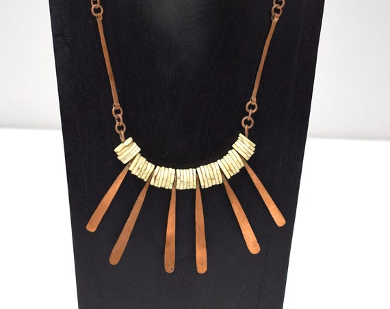 Necklace Africa Turkana Copper Spike Necklace 18.5""