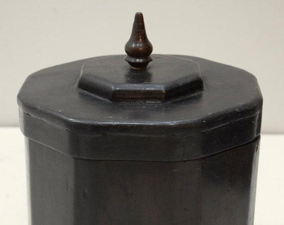 Wooden Box Cambodia Black Lacquer Lidded Storage Box