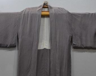 Kimono Japanese Gray White Kimono