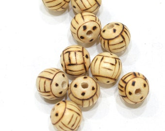 Beads Philippine Wood Etched Beads