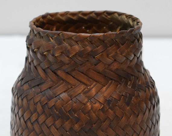 Basket Rattan Sieve River Snail Collecting Basket Ifugao Tribe Philippines Woven Rattan Basket