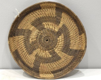 African Basket Botswana Natural Colors South Africa Woven Palm Basket