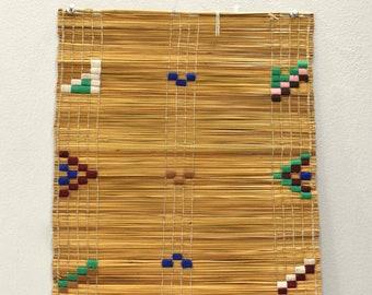 African Zulu Woven Embroidered Mats