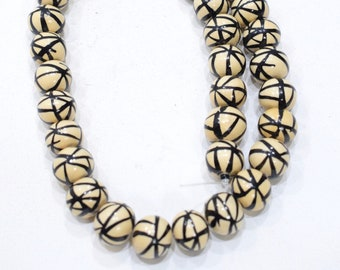 Beads Philippines Painted Wood Round Beads 13-15mm