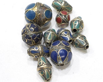 Beads Middle Eastern Mix Bag Brass Oval Beads 15mm-27mm
