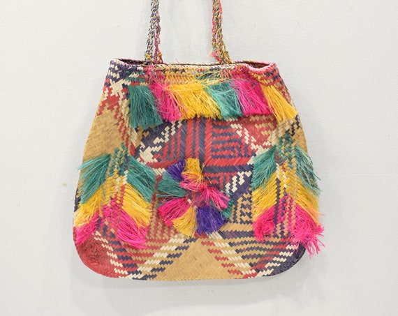 Papua New Guinea Purse Woven Fiber Bag