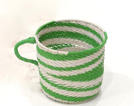 Basket African Zulu Telephone Wire Cup RSA