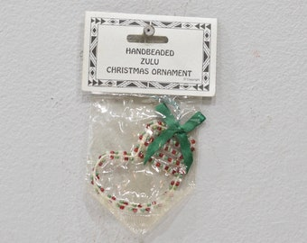 Christmas Ornament African Zulu Beaded Stocking Ornament
