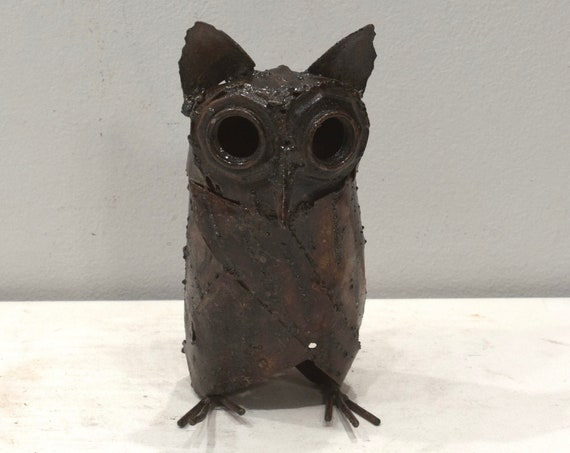 Owl Sculpture Metal Zimbabwe