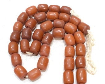 Beads India Brown Buri Nut Beads 13-14mm