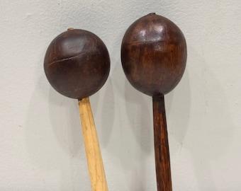 Rattle Coconut Hand Shaker Rattle Instrument