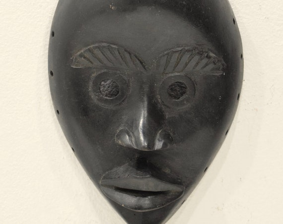 Africa Mask Dan Carved Wood Burnished Dan Mask
