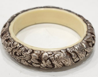 Bracelet Tibetan Silver Serpent Bangle Bracelet