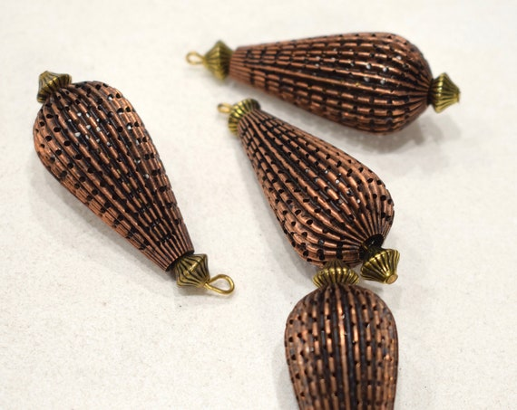 Beads Copper Flute Bead Pendants 48mm