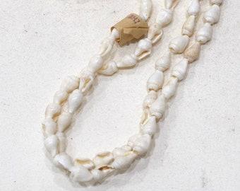 "Beads Small White Nassa Shell Strands 30"""
