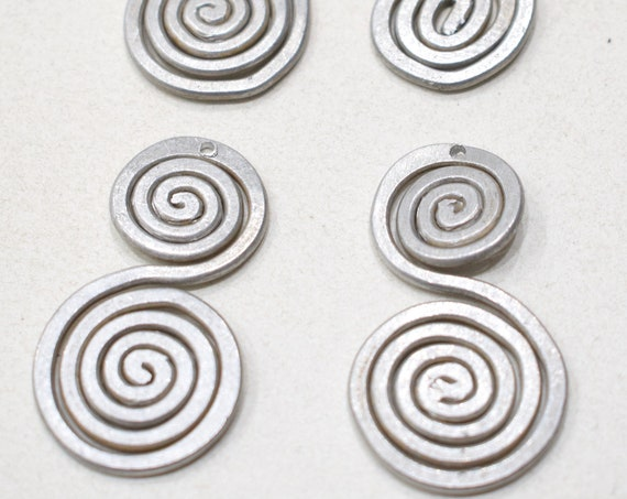 Beads Old Masai/Turkana Aluminum Pendants 40mm