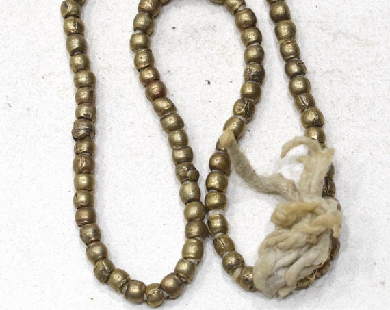 Beads Ethiopian Old Brass Round Beads 7mm