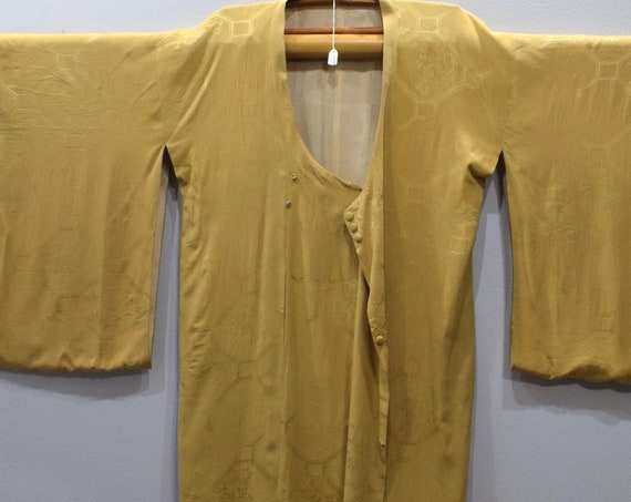 Kimono Japanese Yellow Button Kimono