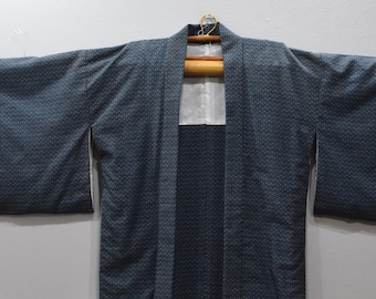 Kimono Japanese Blue Beige Kimono