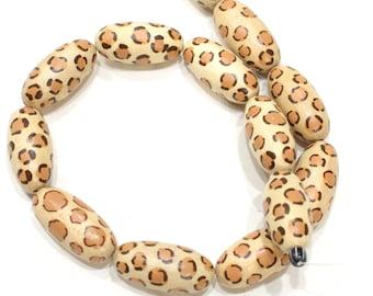 Beads Philippine Painted Wood Giraffe Beads