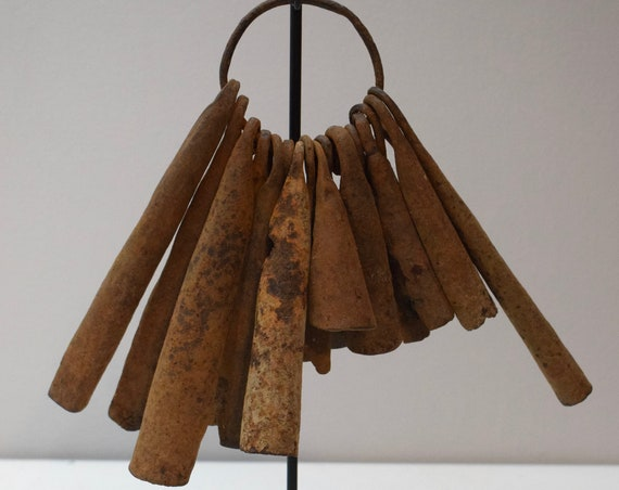African Iron Currency Yoruba Tribe Bell Ring Currency Handmade Iron Money