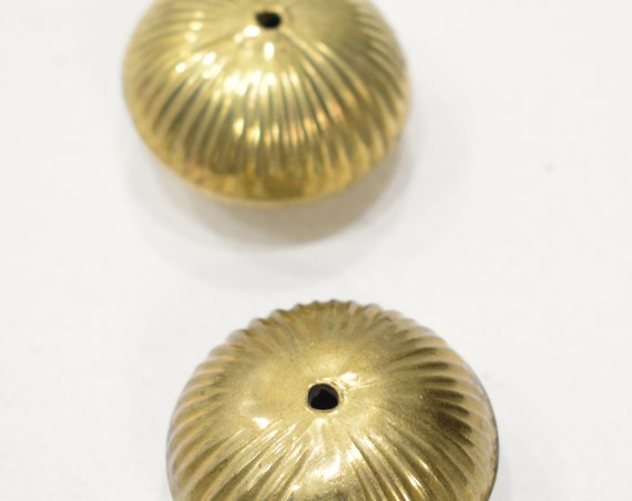 Beads India Brass Large Fluted Beads 40mm