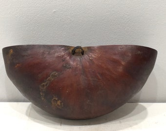 African Gourd GogoTribal Food  Bowl Vessel