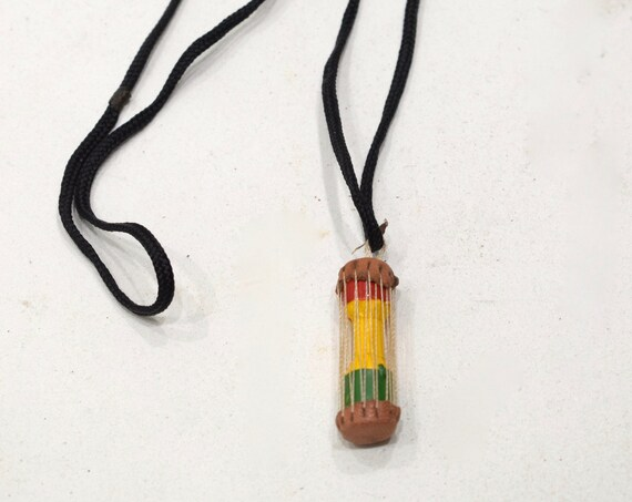 African Talking Drum Necklace Mali