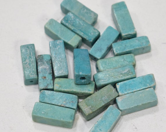 Beads Chinese Turquoise Tube Beads 15-16mm