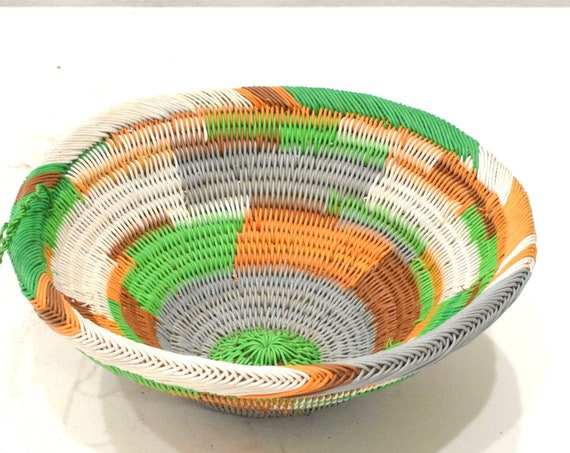 Basket African Zulu Telephone Wire Bowl RSA