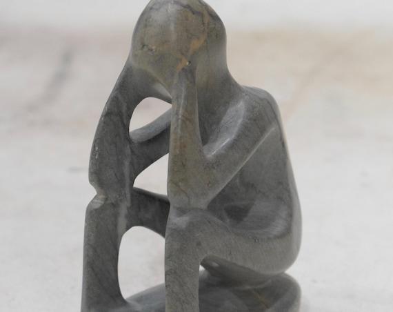 "African Soapstone Figurative Carved Sculpture Kenya 4"""