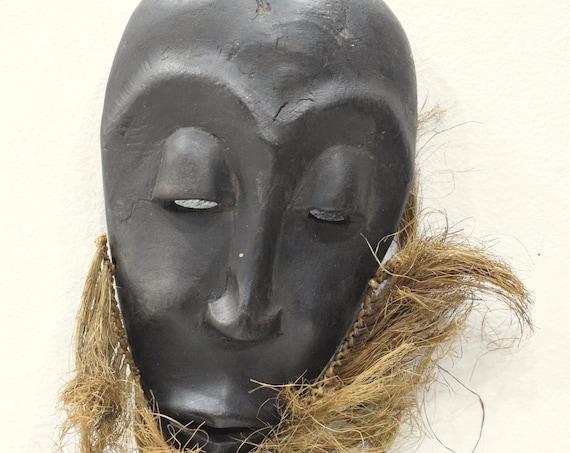Mask African Lega Passport Mask Congo Raffia Wood Ceremonial Travel Lega Mask