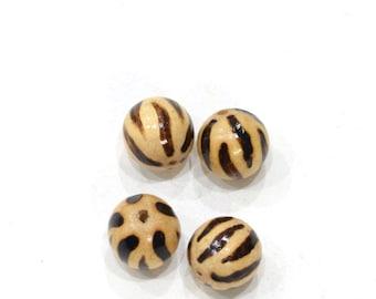 Beads Philippine Wood Animal Print Beads