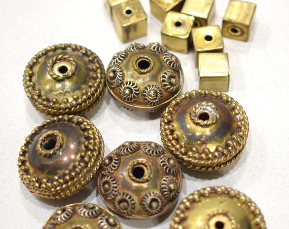 Beads India Brass Mixed Beads 10-26mm