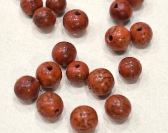 Beads Philippine Orange Betelnut Round Beads 10mm