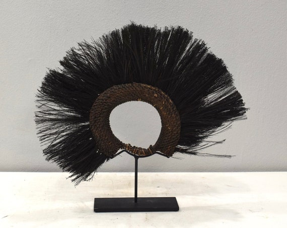 Papua New Guinea Headdress Abelam Cassowary Bird Feathers Headdress