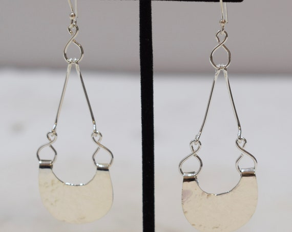 Earrings Sterling Silver Dangle Earrings 80mm
