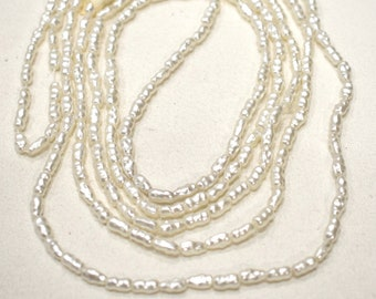 Beads Glass Oval Small Pearls 4mm