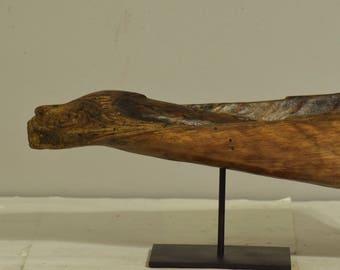 Papua New Guinea Canoe Crocodile Iatmul  Wood Prow Handmade Canoe Alligator Prow  Carved Wood River Canoe Prow