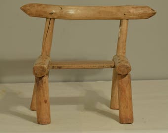 African Chair Carved Wood Male Chiefs Zaire Handmade Chair Natural Wood Furniture Elders Male Chair