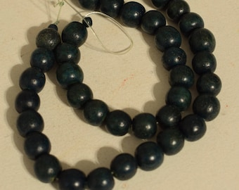 Beads Buri Nut Dark Blue Green Dyed Round Philippines Jewelry Necklace Buri Nut Beads 10mm