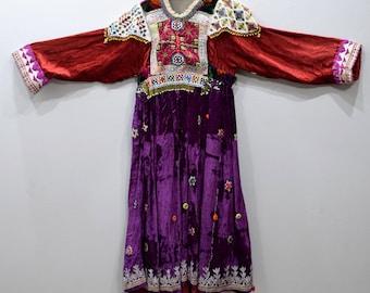Dress Vintage Afghani Kutchi Handmade Beaded Dress