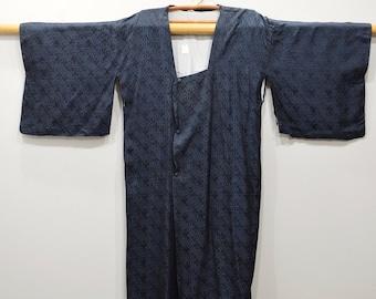 Kimono Japanese Navy Button Kimono
